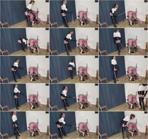 Mistress Krush Long Leather Boots Caning [HD 810P]
