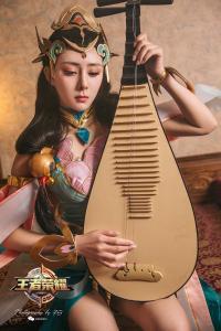 [TouTiao头条女神] 2019.04.17 莫晓希 王者荣耀杨玉环COS--T7129