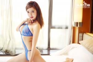 [TouTiao头条女神] 064 溪童蓝色内衣--T9343